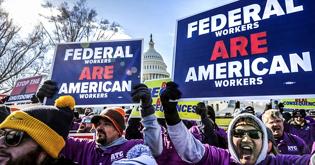 Trump Forcing Federal Employees to Work Without Pay During Government Shutdown!