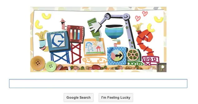Google's Doodle in mother day back in the 2013