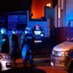 Police officers and fire fighters are seen at the site of a fire which broke out in an escape room in Koszalin, Poland January 4, 2019. Picture taken January 4, 2019. Agencja Gazeta/Cezary Aszkielowicz/via REUTERS ATTENTION EDITORS - THIS IMAGE WAS PROVIDED BY A THIRD PARTY. POLAND OUT. NO COMMERCIAL OR EDITORIAL SALES IN POLAND.