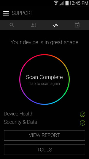 The Samsung+ is the application through which you can access the update.
