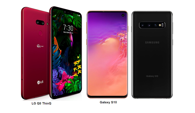 Samsung Galaxy S10 vs LG G8 ThinQ display