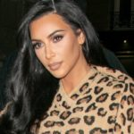Kim Kardashian Sizzles in a See-Through Leopard Catsuit