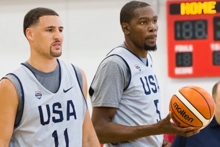 Kevin Durant and Klay Thompson Golden State Warriors