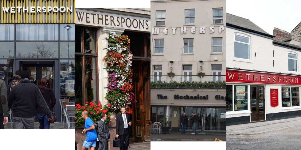 16 Wetherspoons Outlets to close