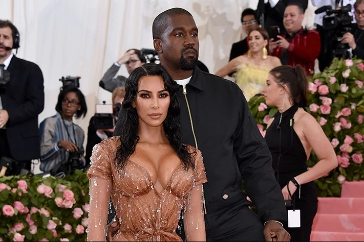 Kim Kardashian 2019 Met Gala curve hugging dress