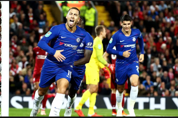 Liverpool and Chelsea Football