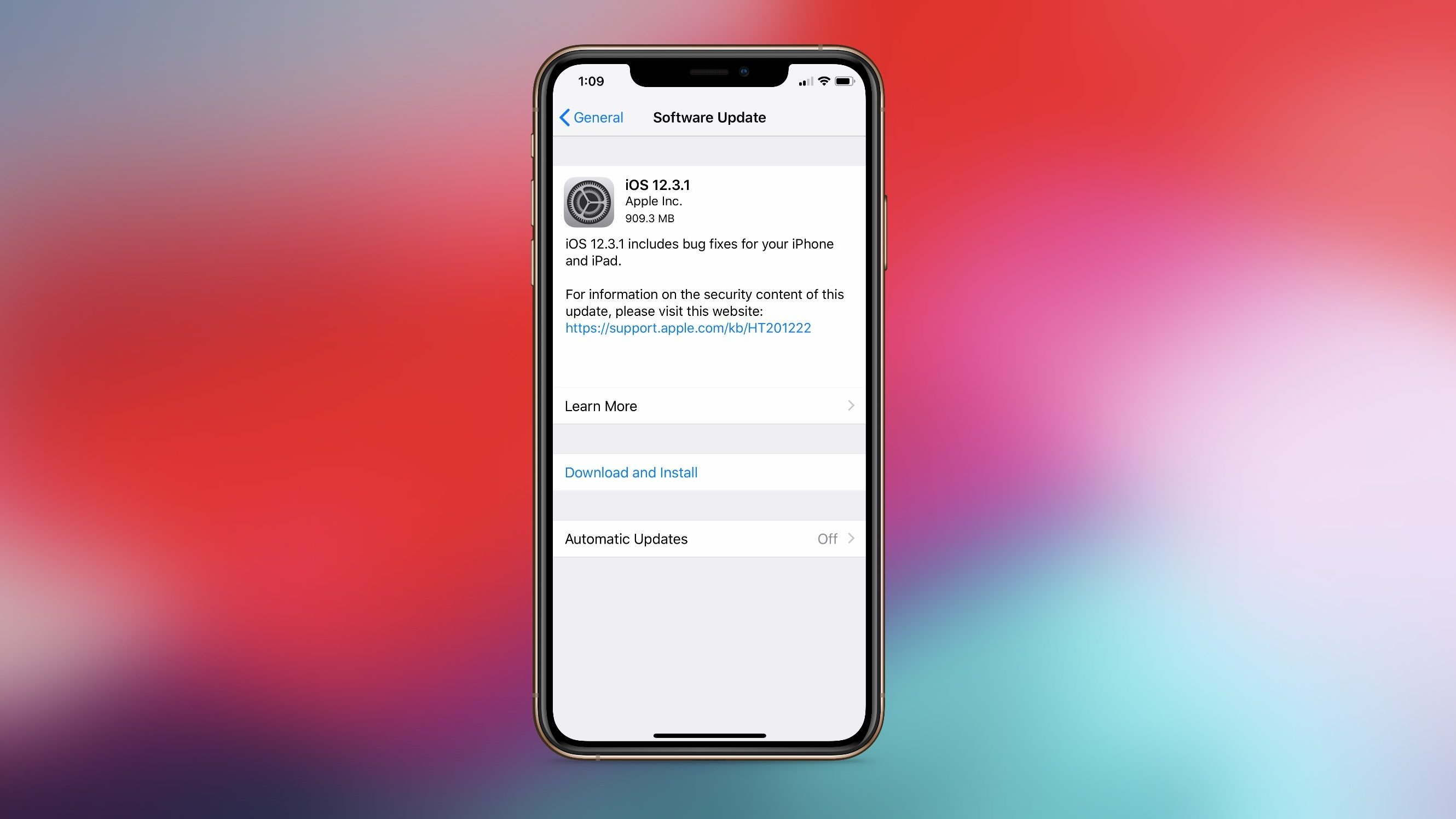 Apple iOS 13 fix bugs iPhone iOS 12.3.1 update