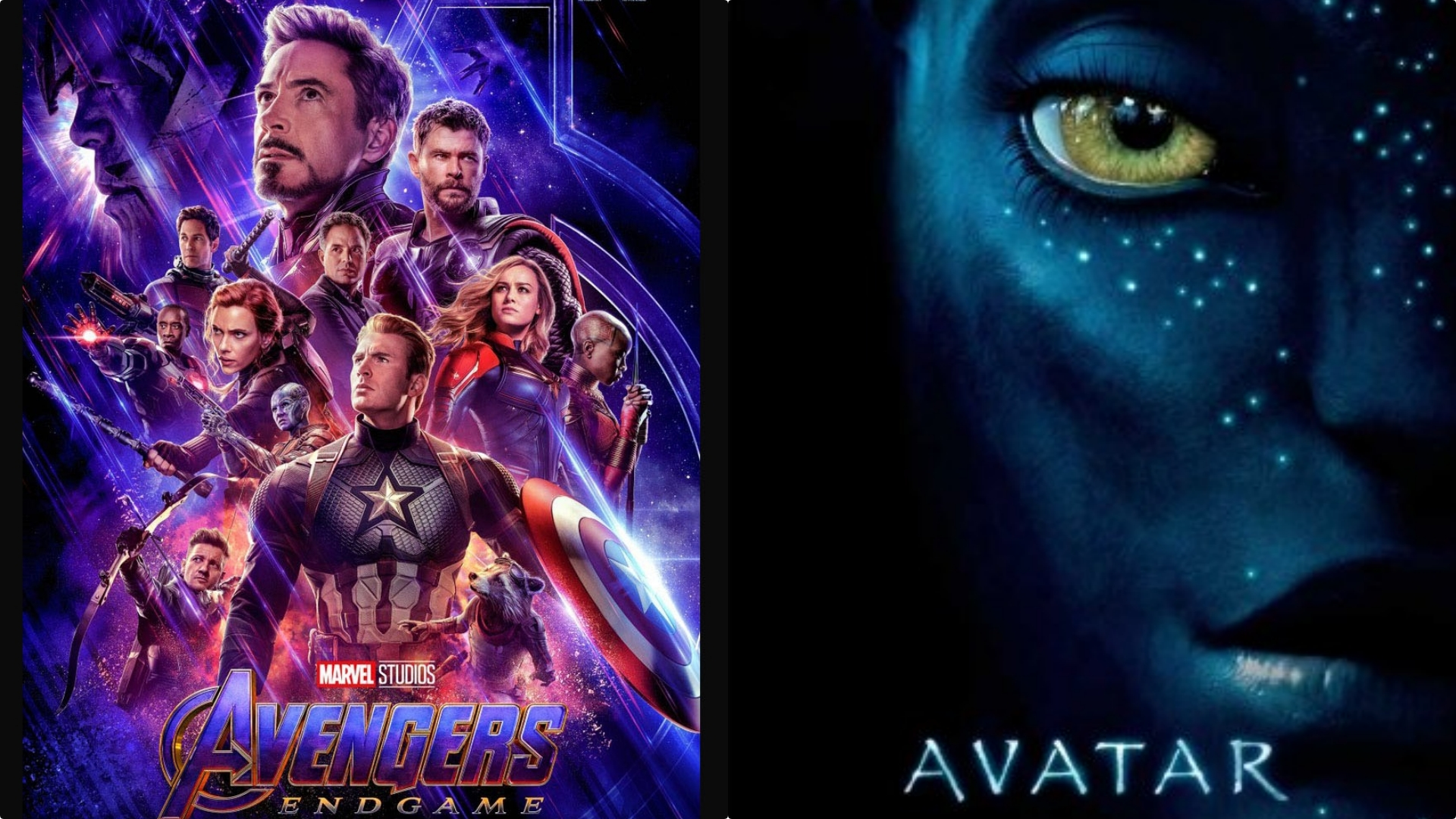 Avengers Endgame vs Avatar box office earnings