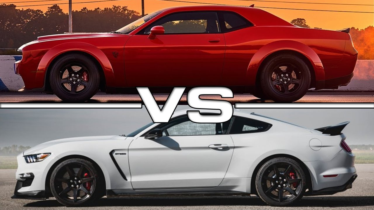 dodge demon vs mustang