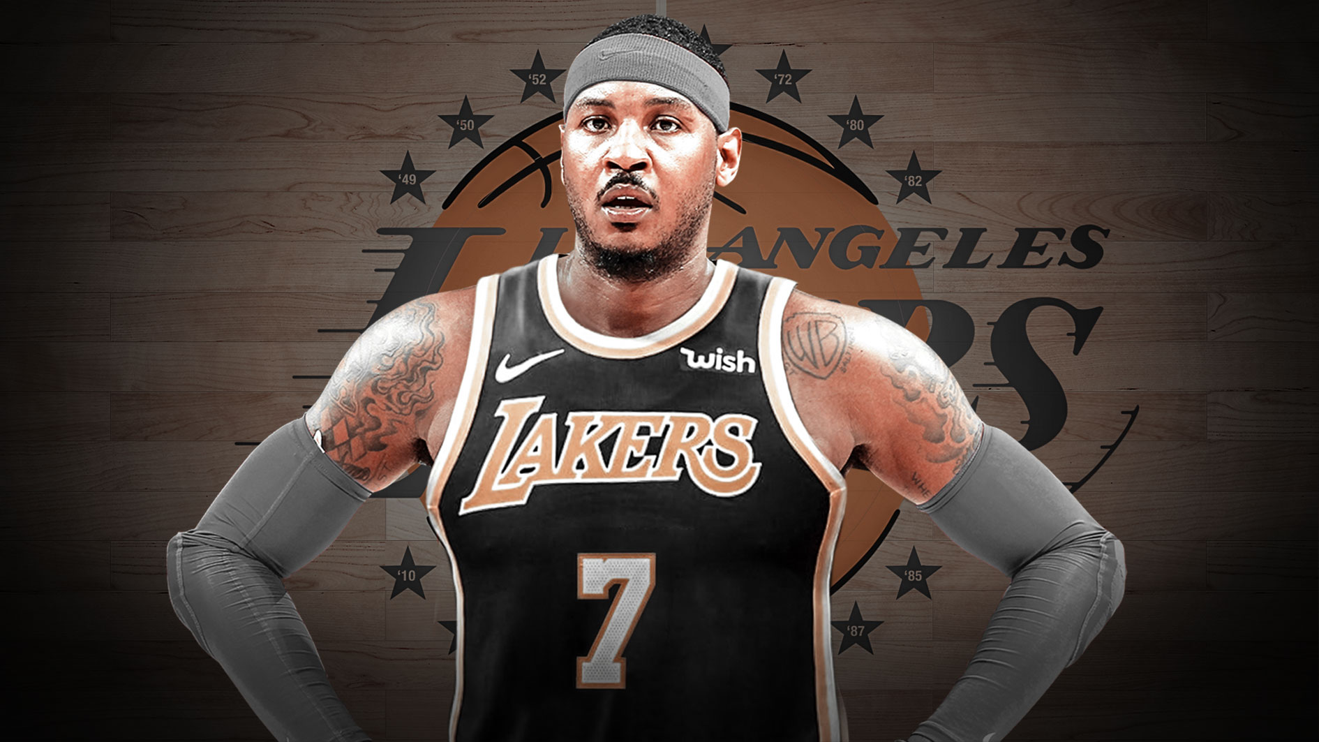 NBA trade deal Carmelo Anthony LA Lakers LeBron James Anthony Davis Duo