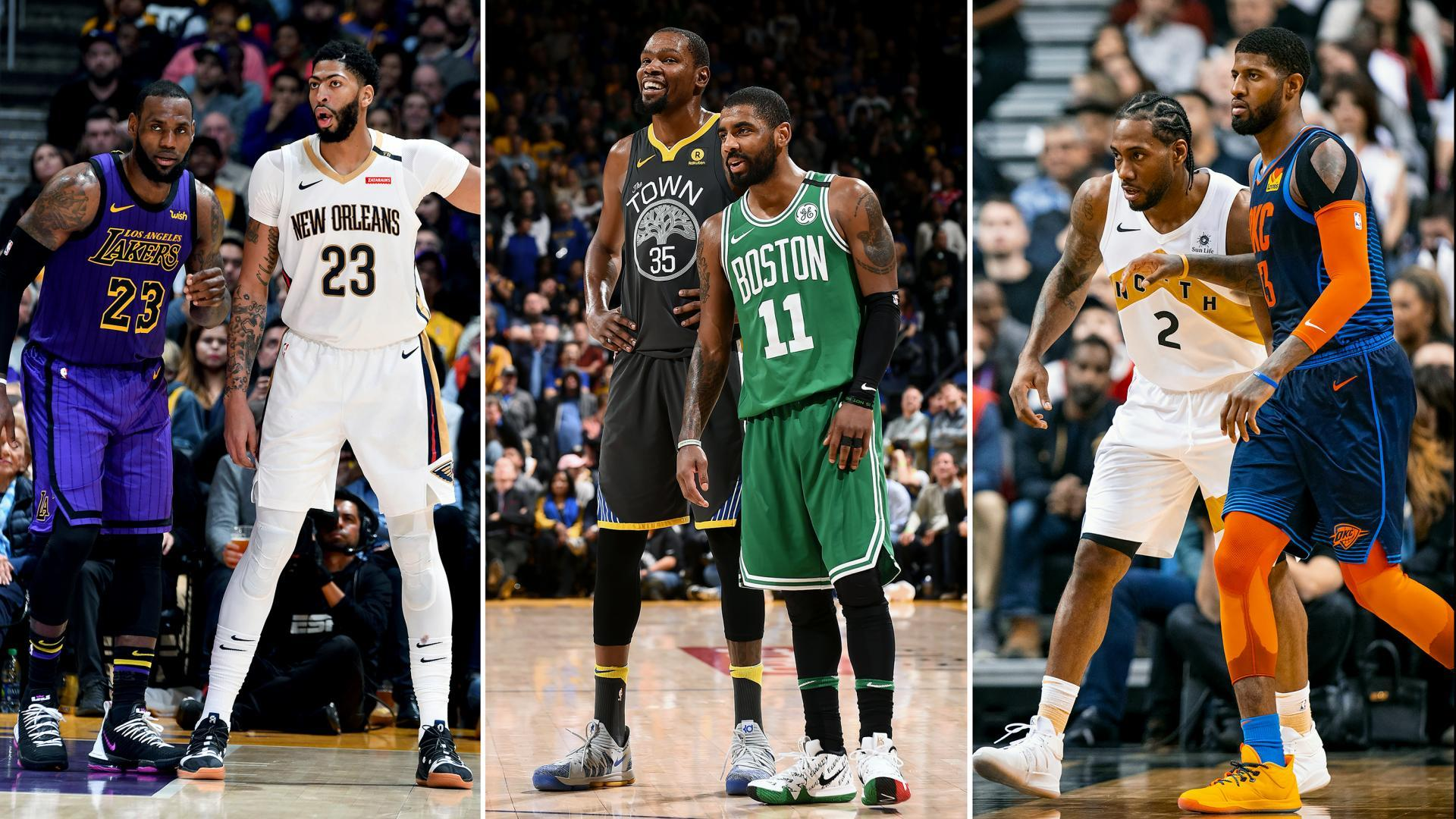NBA Power Duos Kevin Durant Kyrie Irving LeBron James Anthony Davis Kawhi Leonard George Paul Stephen Curry Klay Thompson James Harden Russell Westbrook