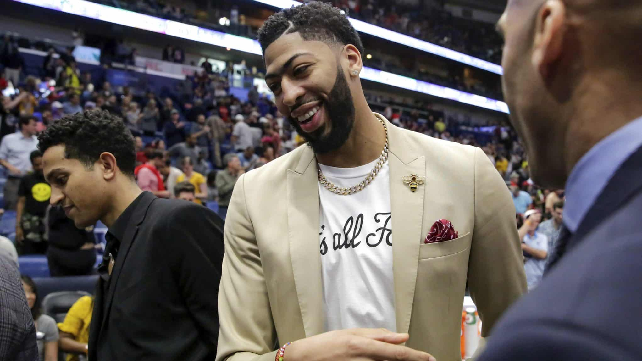 los angeles lakers trade multiple picks for anthony davis
