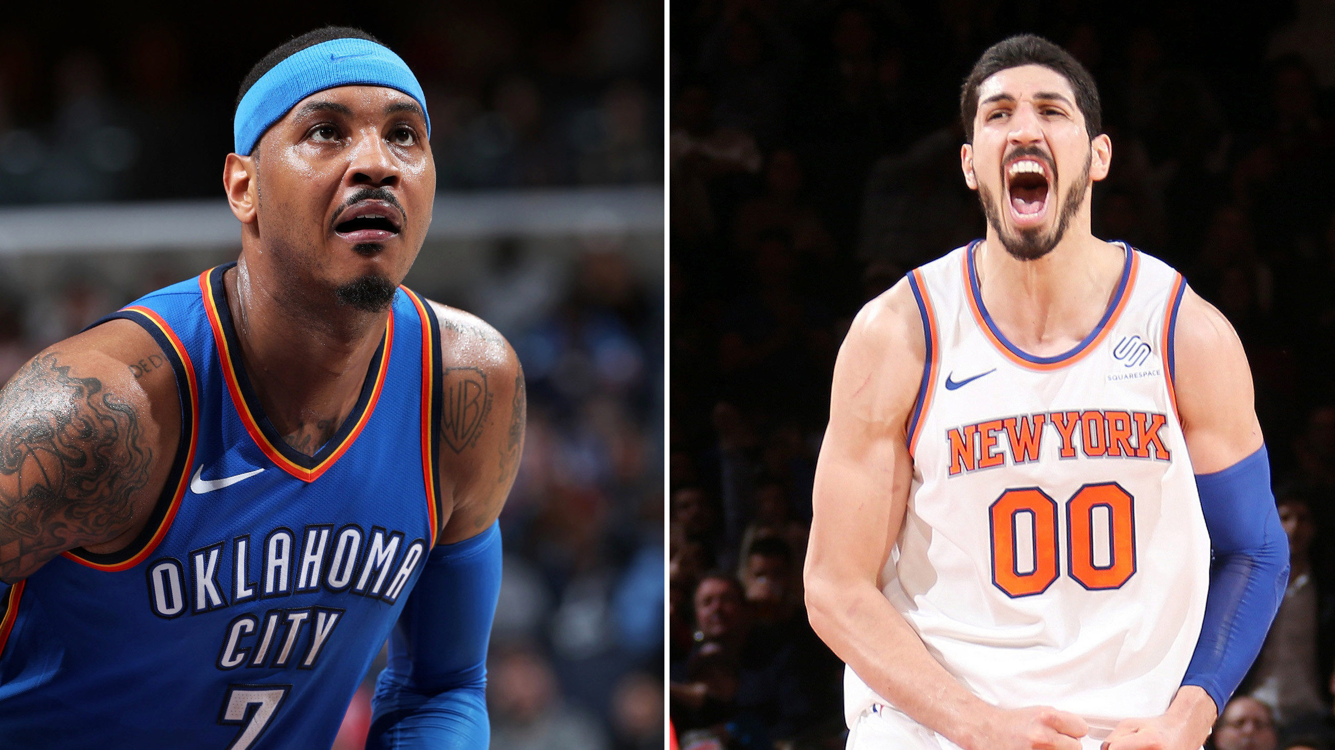 Enes Kanter NBA Carmelo Anthony New York Knicks Trade Deal