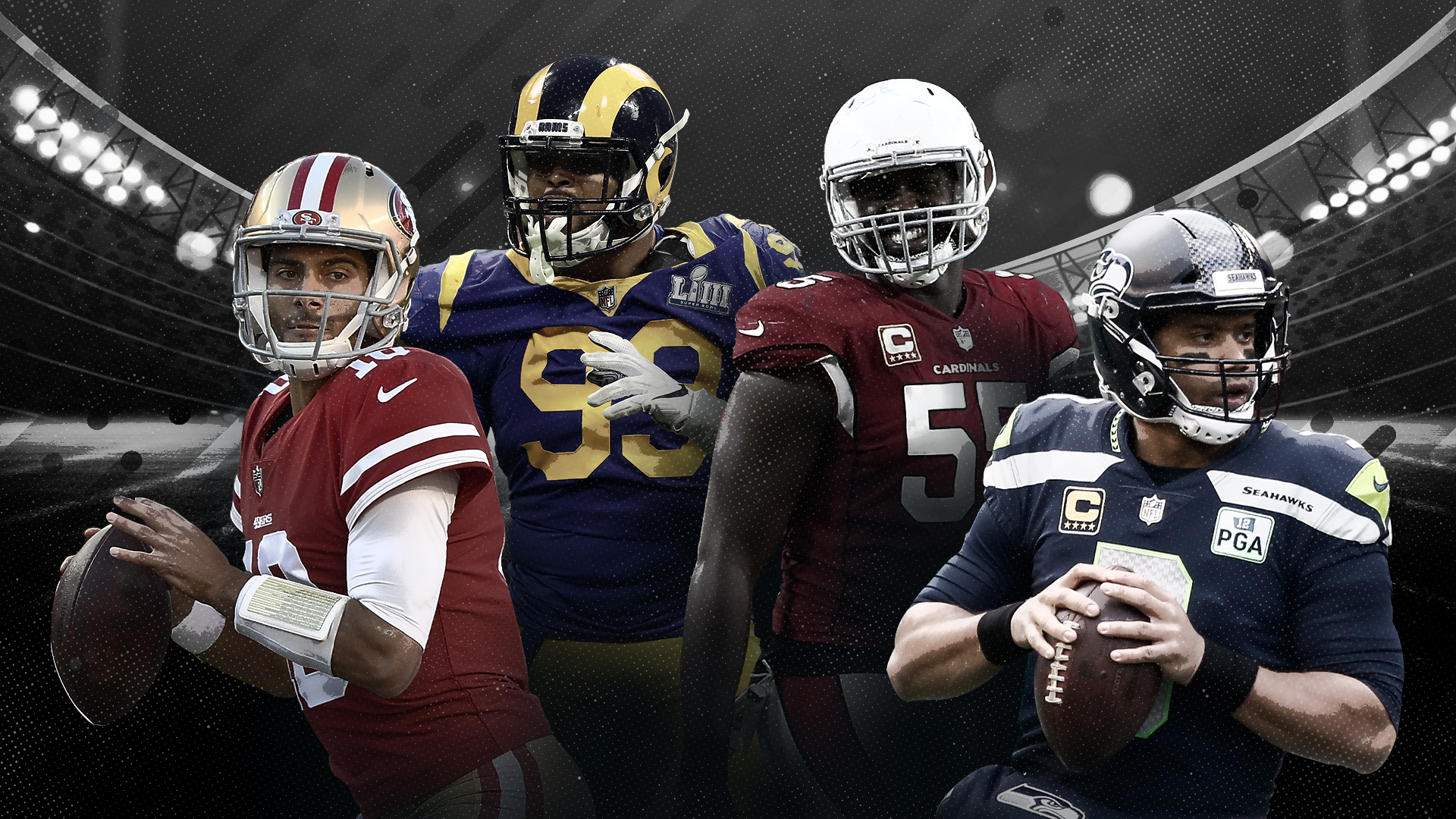 NFL Predictions Win-Loss Ratio Odds NFC West League Rams Seahawks 49ers Cardinals