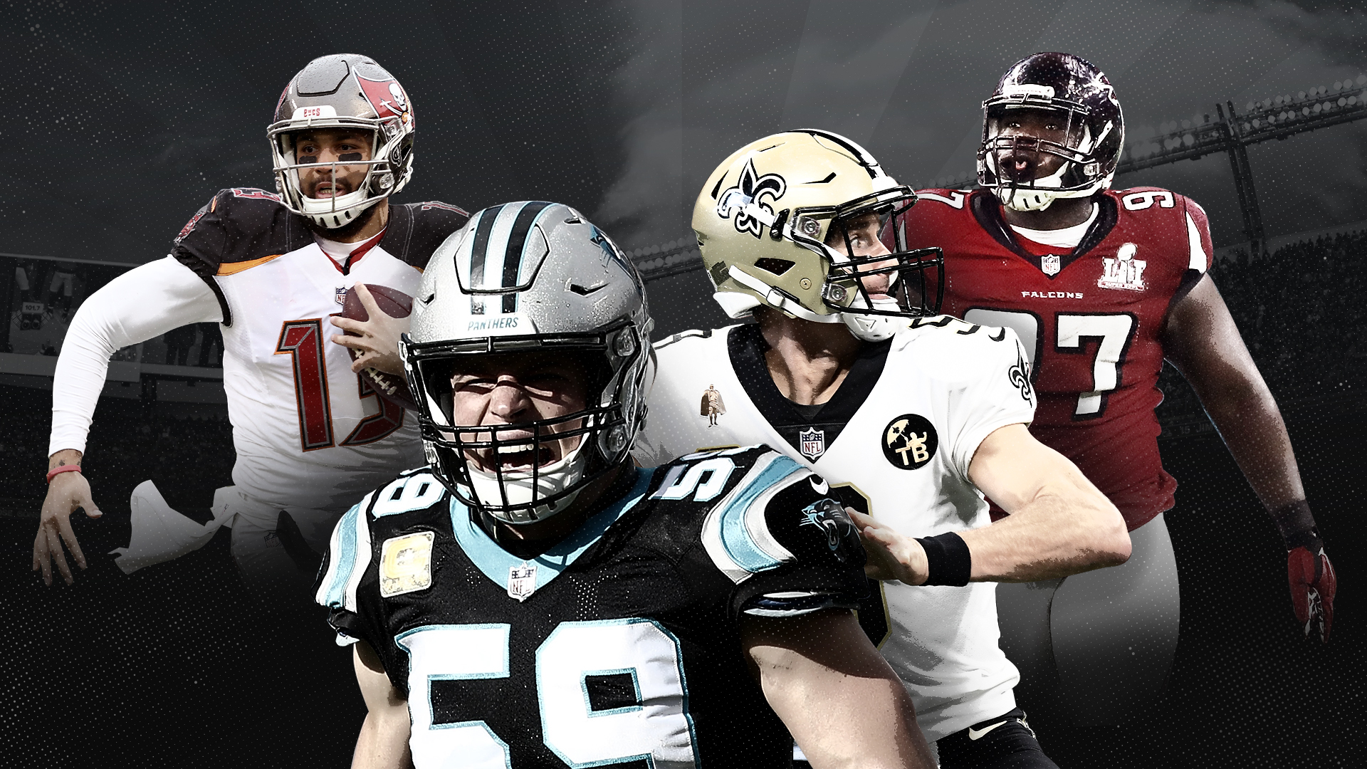 NFL Predictions Win-Loss Ratio NFC South League Saints Falcons Panthers Bucs