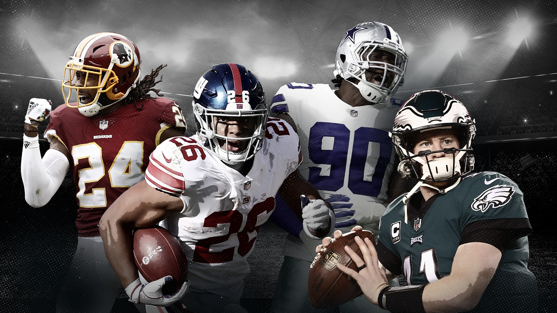 NFL Predictions Win-Loss Ratio Odds East League Eagles Cowboys Redskins Giants