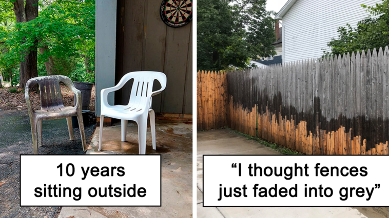 20+ Times Things were completely Transformed by Power washing