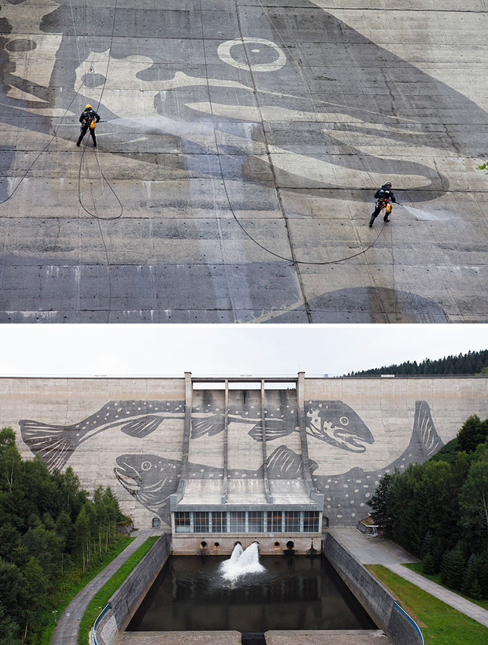 The huge fish in Eastern Germany goes for a Power Wash