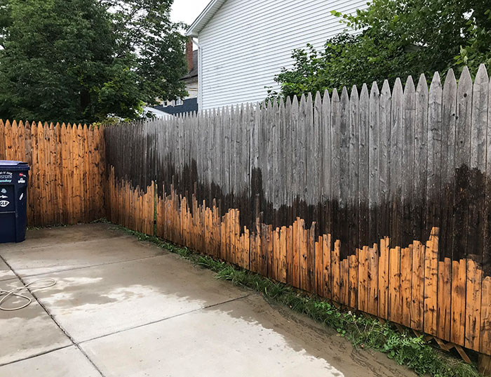 This fence wasn't actually grey!