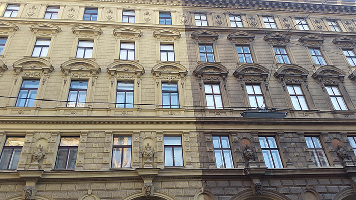 You will probably love the power washed Vienna Building