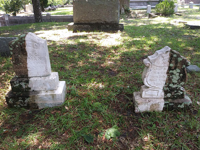 Gravestones, too deserve a cleaning