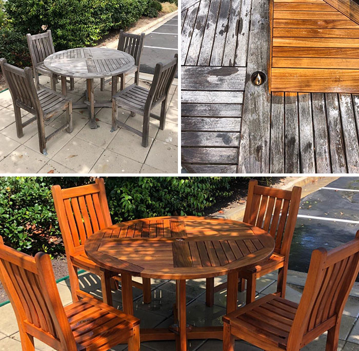 Restoring the Outdoor furniture for having meals at peace