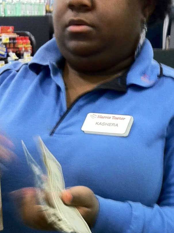 """Kashera"""" was born to be a Cashier!"""