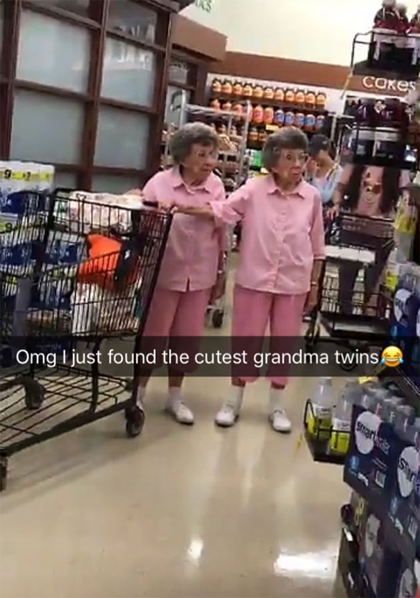Funny incidents at the stores: Ever wondered how cute twin grandmas look?