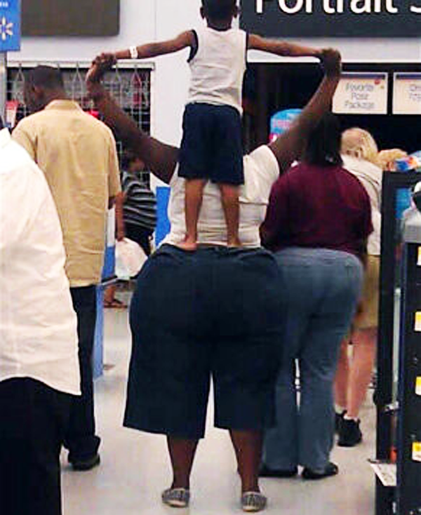 Stores also witness moms like these lifting their babies!