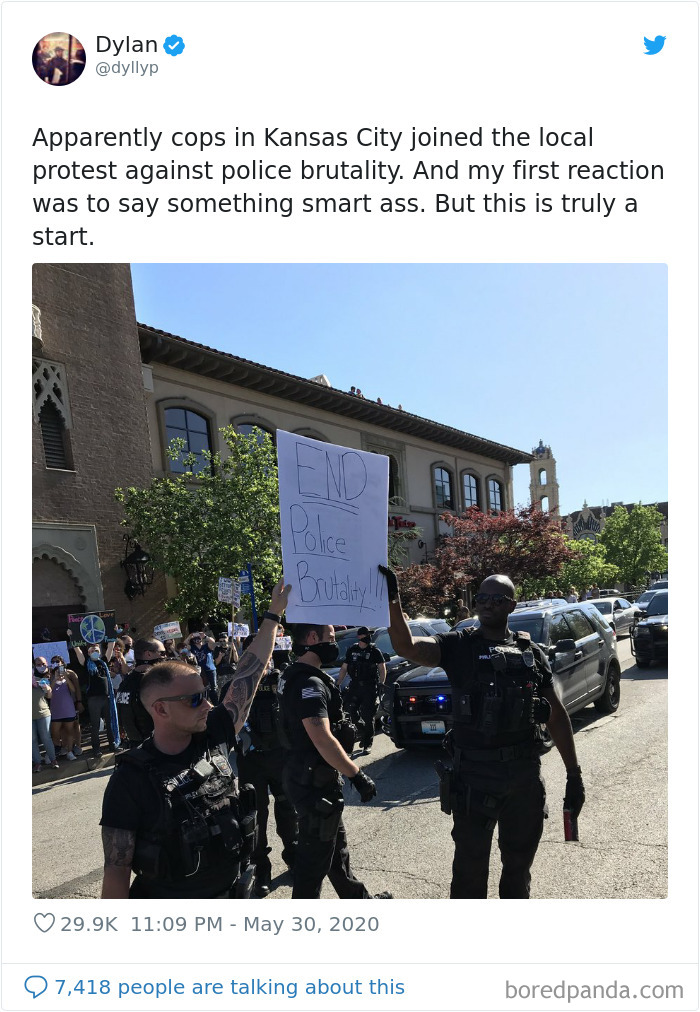 Cops In Kansas City Joined The Local Protest