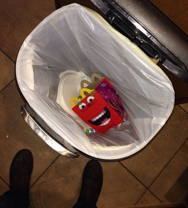 When you open the trash and suddenly