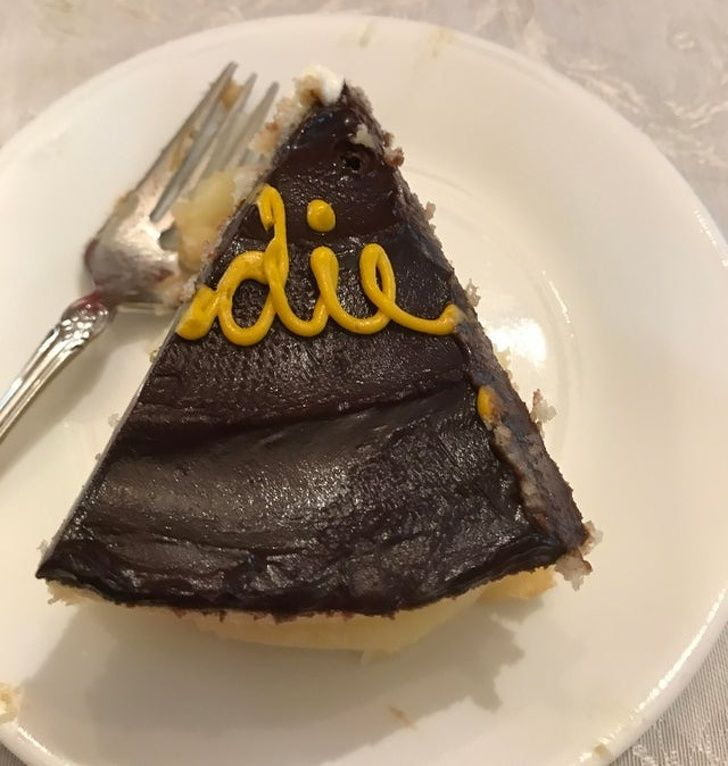 Mother-in-law just served me this piece of cake