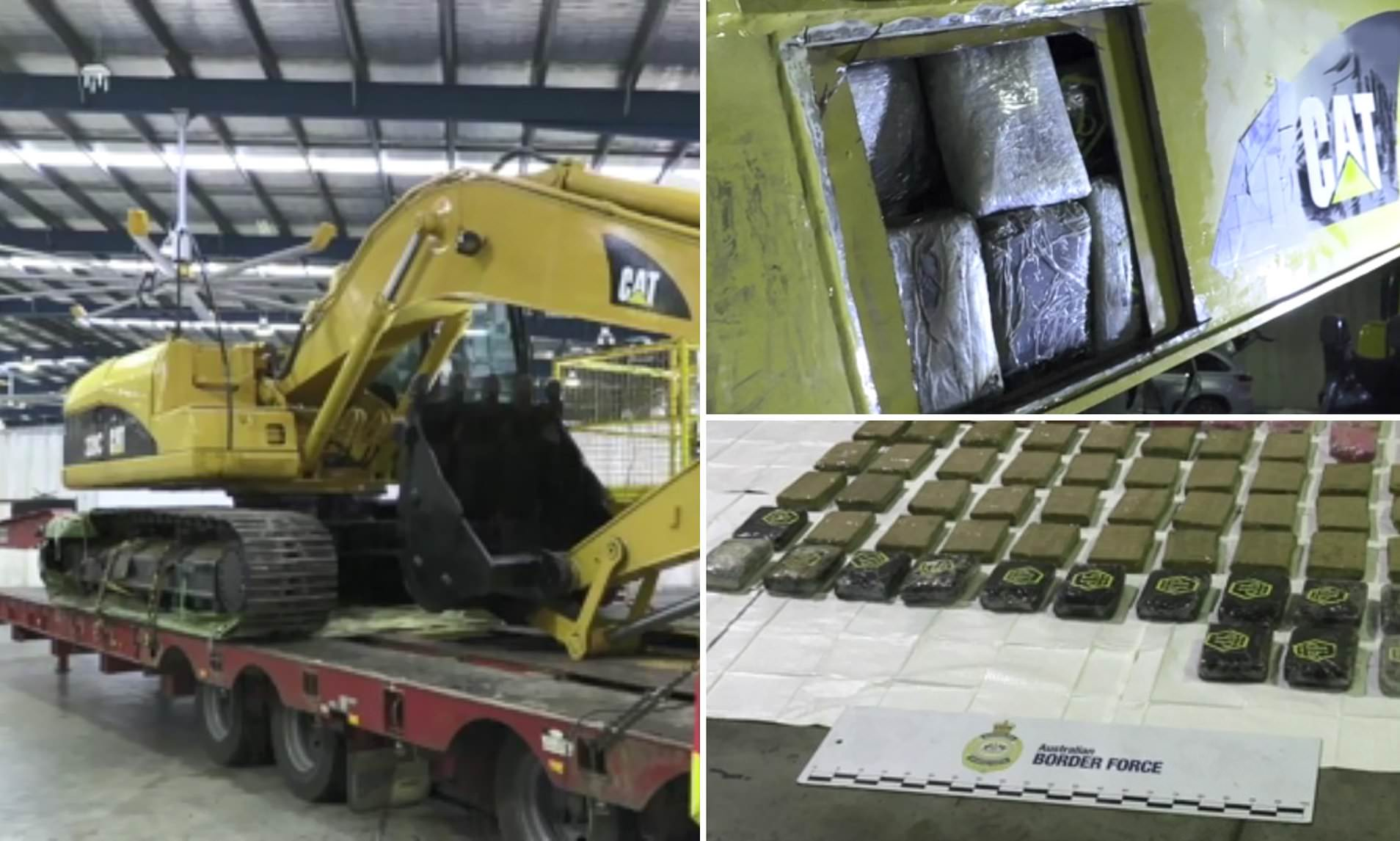 Over 800 Lbs. Of Cocaine Worth $140 Million Found Hidden In An Excavator