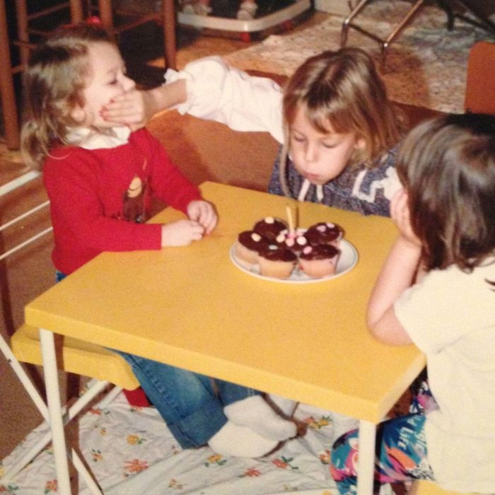 Exactly 27 Years Ago, My Mom Took The Perfect Picture Of Me And My Sister. Some Things Never Change