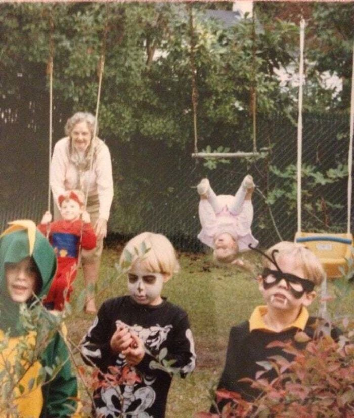 Halloween 1989. That's Me On The Right. My Sister Is Behind Me And About To Have A Really Bad Day