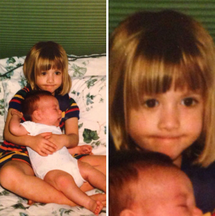 Found This Picture Of My Sister And me. She Was Probably About Two Weeks Old In This Picture. Right About The Time I Realized That We Were Keeping Her And I Was No Longer An Only Child