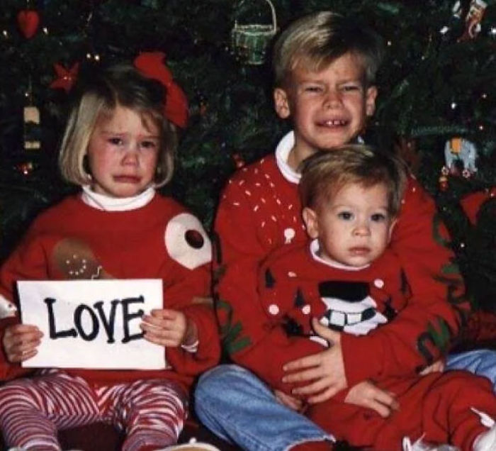 Dad Got Mad When We Weren't Cooperating For Our Family Christmas Photo