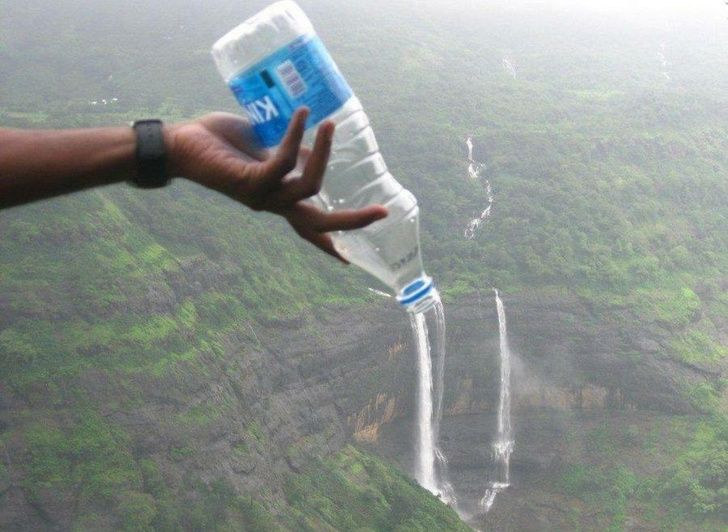 How do you like this waterfall from the bottle