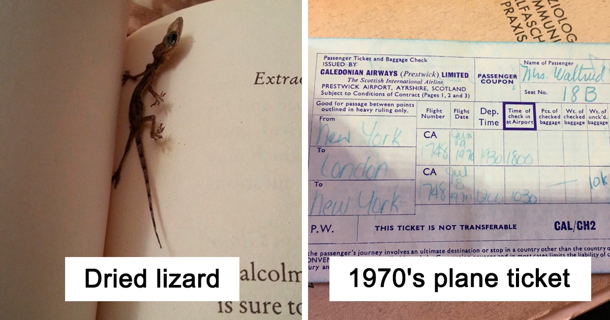 30+ Times People Found Unexpected Things In Second Hand Books