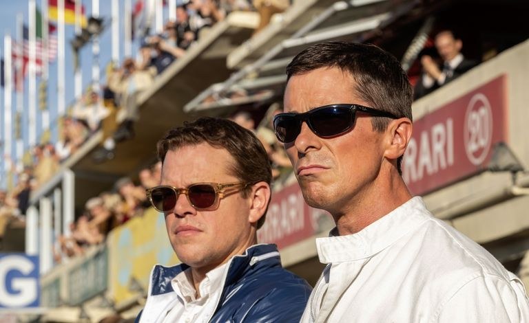Ford v Ferrari Carroll Hall Shelby (played by Matt Damon) and Ken Miles (played by Christian Bale)