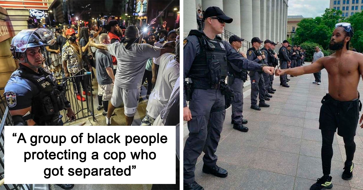 30+ Pictures Which Show The Other Side Of Protests