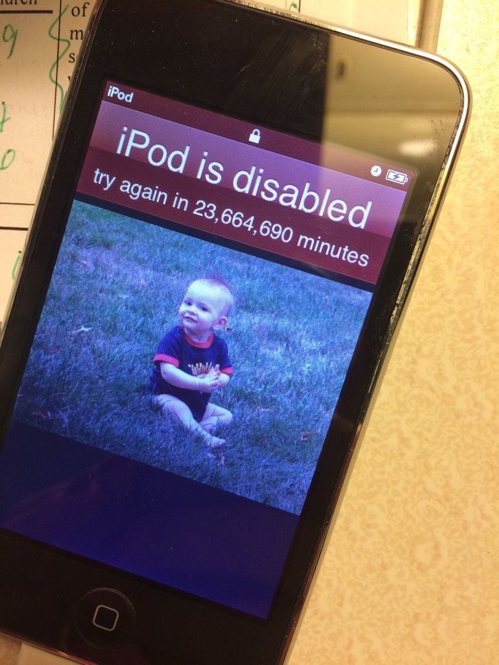 Hilarious kids:OMG! My kids have disabled my iPod for 45 years.