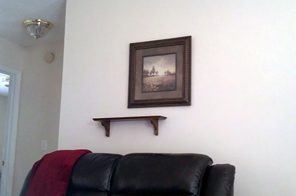 My Wife Hung A Nice Picture And A Small Shelf While I Was On Duty. Now My Eye Is Twitching