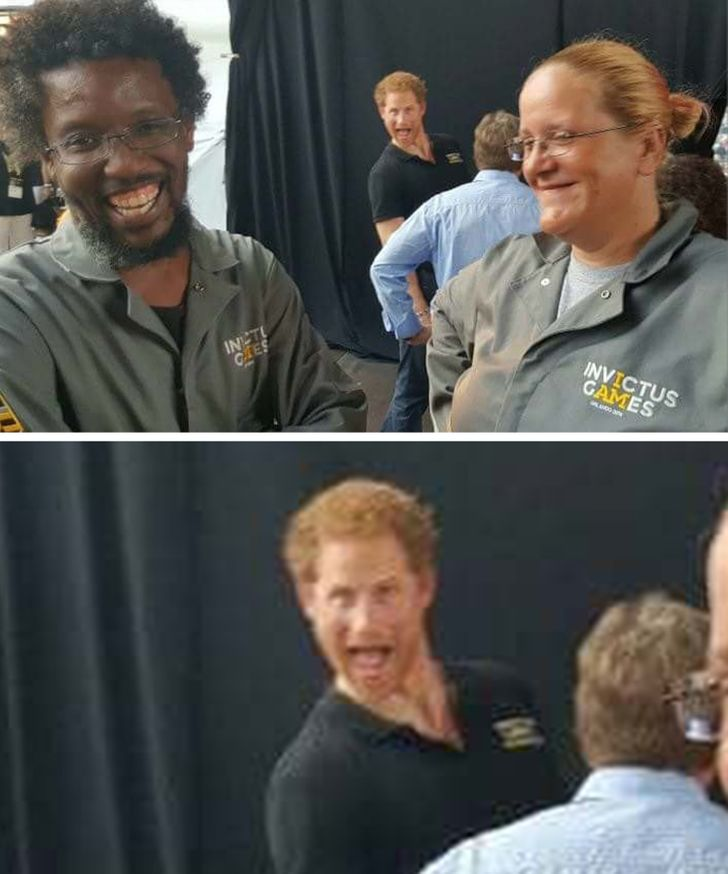 Yeah! That's Prince Harry in the background.