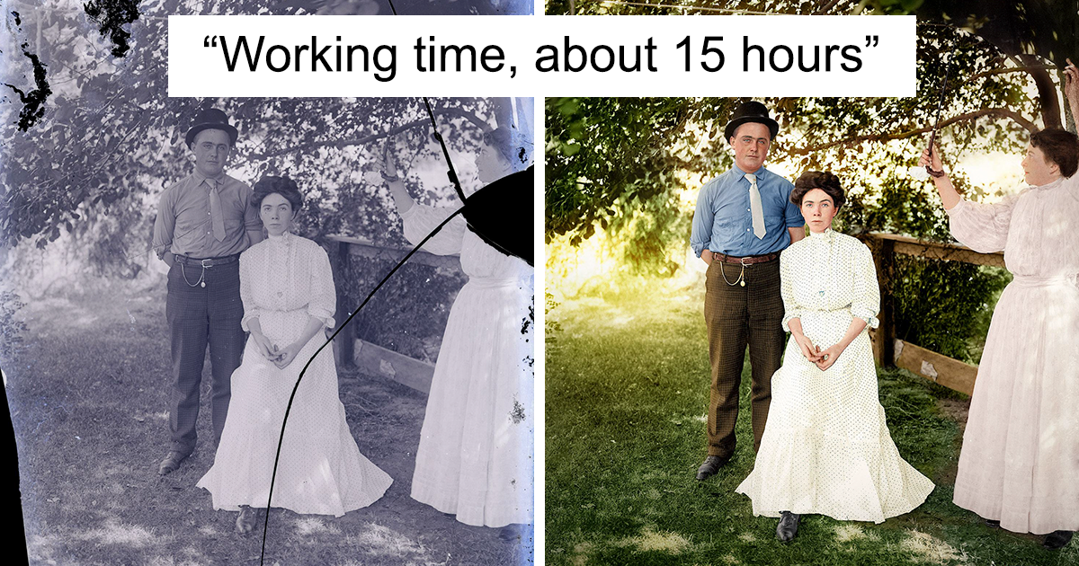 Photographer Spends 1000s of Hours Painstakingly Restoring 'Unrestorable' Photos And Here Are His 16 Most Impressive Works