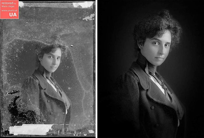 Photographer restores pictures: The Unknown Woman, Ca 1880