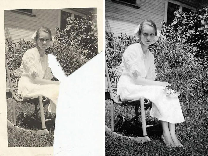 Restoring young girl's photo