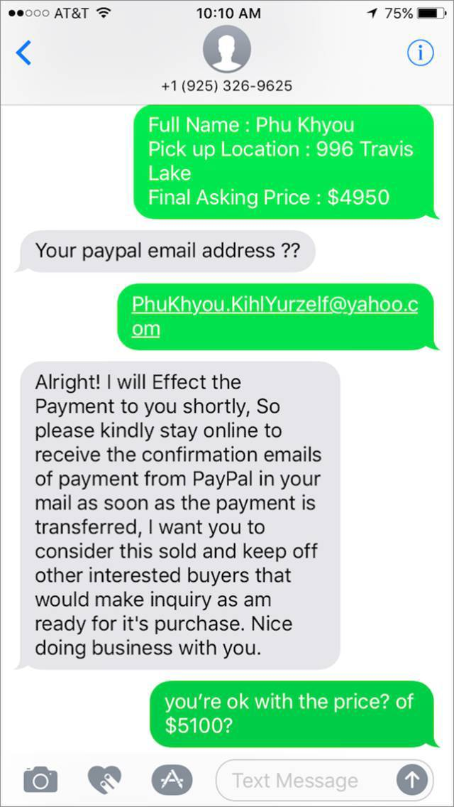 He again asked for the details and the man shares the fake details again!