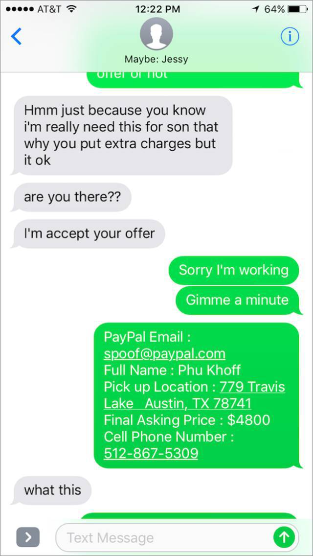 The man is now alert and starts his tricks to fool the scammer!