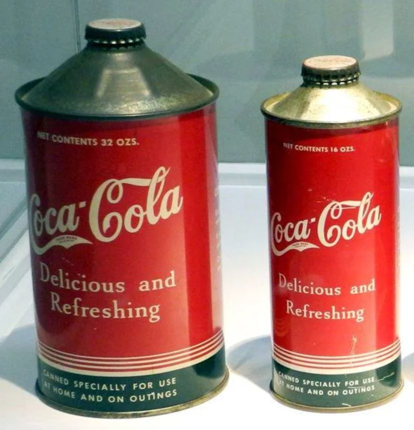 Strange Secrets: This is a combo version of Coke cans and bottles from the 1930s.
